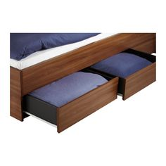 oppdal bed frame w storageslatted bedbase medium brown 140x200 cm ikea