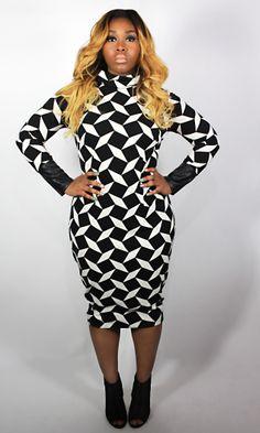 c55f5c2ef296 Save money on Fendi Zucca Knit Body-Con Midi-Dress