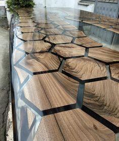 Resin Furniture, Furniture Design, Furniture Dolly, Wooden Furniture, Kitchen Furniture, Wood Resin Table, Slab Table, Walnut Table, Wood Table Design