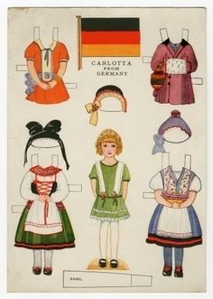 78.6433: Little Americans from Many Lands-Carlotta from Germany | paper doll | Paper Dolls | Dolls | Online Collections | The Strong