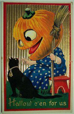 "Vintage Halloween Postcard, ""BARTON & SPOONER"" BS by riptheskull, via Flickr"