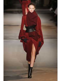 Red for the wintertime (Haider Ackermann A/W 2012 ELLE)
