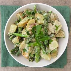 This Warm Dijon Roasted Asparagus & Potato Salad recipe, from of Once Upon a Cutting Board, part of the U.S Potato Board's Potato Lovers Club program. Healthy Potato Recipes, Veggie Recipes, Delicious Recipes, Free Recipes, Vegetarian Recipes, Healthy Food, Healthy Eating, Yummy Food, Tasty
