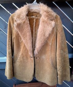 VINTAGE Women's SUEDE LEATHER and Faux fur by SunDazeVintage, €14.99