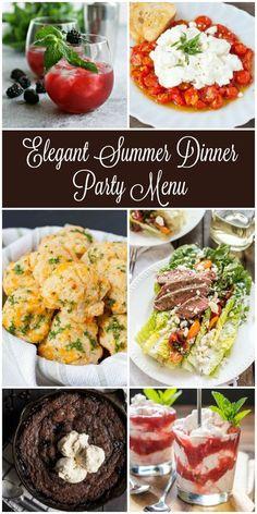 elegant dinner party menu