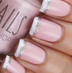 Classy, simple French tip nails