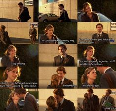 Jim and Pam ❤and then there's dwight