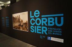 """Cartel de la Exposición """"Le Corbusier Postales: una visión  del mundo"""". En CentroCentro Cibeles de Madrid. #Cartel #Affiche #Arterecord 2014 https://twitter.com/arterecord"""