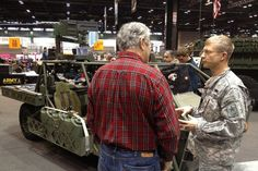 The U.S. Army rolls out it's new lightweight, diesel-electric concept hybrid vehicles, the Clandestine Extended Range Vehicle (CERV)  during the Chicago Auto Show. The intended use for the CERV is for targeting, reconnaissance, and rescue sorties, with a traveling speed up to 80 mph, and with a capability to travel in a silent mode under 8 mph. Read more here:   http://www.army.mil/article/73794/Army_highlights_best_of_past__present__future_at_Chicago_Auto_Show_exhibit/