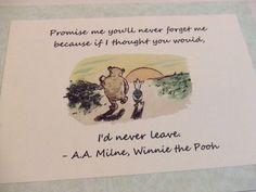 Never Forget Me - Winnie the Pooh Quote - Nursery Print. $5.00, via Etsy.