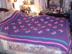 full sized butterfly blanket. my own pattern