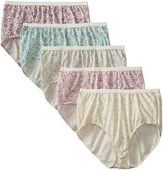 026b922f085 Just My Size Women s 5-Pack Cotton Lace Effects Brief Panty -- Learn more