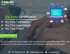 Big Data is referred to as the exponentially large chunk of data that normal computing techniques cannot process. This is the reason why businesses and organizations are in the hunt for Big Data Professionals who can effectively manage their large and complex data. If you have a sound knowledge of Big Data and have the necessary expertise then give your career a start with Beingcert Big Data Certification ! Big Data, Organizations, Certificate, Career, Knowledge, Learning, Carrera, Studying, Organizing Clutter