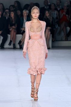 Alexander McQueen Spring 2012 Collection: Exposed breast cut of the Minoan Women
