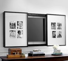 Gallery Frame TV Cover #potterybarn                                                                                                                                                      More