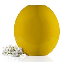 "Z Gallerie lemon-lacquered ""Mango"" vase.  Hand-formed of renewable bamboo."