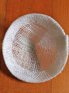Sinamay is a material that apparently (from my google research) is made up of banana plant fibres. A very popular material used in millinery and quite fun to work with. HERE IT IS… TO make a …