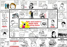 Rage faces drinking game.