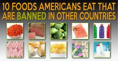 10 FOODS BANNED IN OTHER COUNTRIES / Americans are slowly waking up to the sad fact that much of the food sold in the US is far inferior to the same foods sold in other nations. In fact, many of the foods you eat are BANNED in other countries. Health And Nutrition, Health And Wellness, Nutrition Tracker, Nutrition Tips, Whole Food Recipes, Healthy Recipes, Thm Recipes, Healthy Tips, Healthy Foods