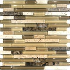 Sample Travertine Emperador Glass Brown Beige Mosaic Tile Backsplash Kitchen eBay $4.99