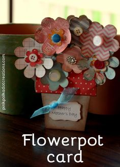 Flower Pot Card - Pi