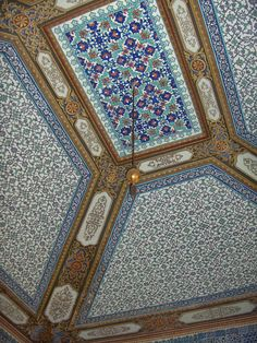 Iznik Tiles: Topkapi Palace, Istanbul Turkey: Ceiling of the circumcision room; the fourth court