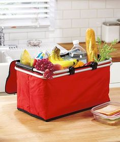 Collapsible Insulated Basket - http://www.outdoorcookinggrills.com/collapsible-insulated-basket/