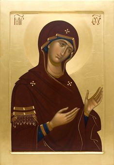 Deesis Icon of the Mother of God, catalog of St Elisabeth Convent. Byzantine Icons, Byzantine Art, Religious Icons, Religious Art, Madonna, Russian Icons, Religious Paintings, Best Icons, Virgin Mary