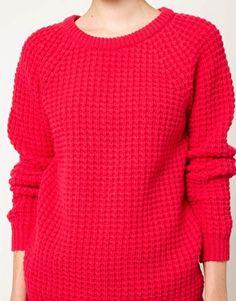 cozy waffle knit sweater