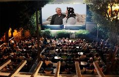 Cine Manto on the island of Mykonos. Outdoor theater and cafe in botanical gardens Outdoor Cinema, Outdoor Theater, Mykonos Town, Santorini, Movies Under The Stars, Botanical Gardens, Trip Advisor, Dolores Park, Island