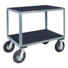 Utility Cart, Vinyl Mat, 2 Shelves, 24x48 by Jamco. $586.87. Utility Cart, Load Capacity 1200 lb., Welded Steel Construction, Gauge Thickness 12, Powder Coat Finish, Color Gray, Overall Length 31 In., Overall Width 25 In., Overall Height 34 In., Number of Shelves 2, Caster Size 8, Caster Type 2 Rigid, 2 Swivel, Caster Material Semi-Pneumatic, Capacity per Shelf 600 lb., Distance Between Shelves 20 In., Shelf Length 48 In., Shelf Width 24 In.