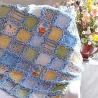 Baby Boy Rag Quilt Lions Tigers and Bears