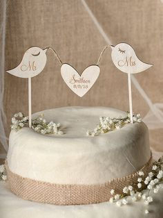 Rustic Cake Topper Wood Cake Topper Monogram by forlovepolkadots