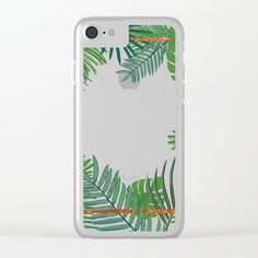 Tropical Copper Greenery Clear iPhone Case by Xiari at society6 . tropical , exotic, greenery, copper, geometrical, geometry,  pattern, gold, brass, minimal, leaf, leaves, scandinavian design, art print, duvet cover, trend, design, interior design, wall art, wall tapestries, digital, society6, green, xiari