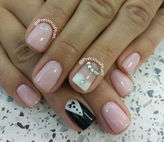 Nude, Groom and bride nails