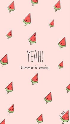 Discovered by LOLA. Find images and videos about watermelon, wallpaper and summer on We Heart It - the app to get lost in what you love.