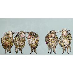 Found it at Joss & Main - 5 Woolly Sheep Canvas Print