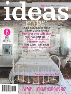 Idees/ Ideas Magazine: 10 page cover story. Africa Online, Hobbies And Interests, Wedding Function, Simple Prints, Vintage Diy, Easy Projects, Step By Step Instructions, Creative Inspiration, Unique Weddings