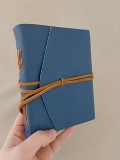 Small Blue Field Journal -Lined by theartiststudio on Etsy