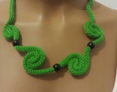 Collana lana spirali