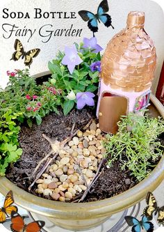 Super DIY Fairy Garden Ideas and Instructions - Making Diyselber - Have you always dreamed of having a micro garden? Then fairy gardens would be great for - Micro Garden, Home And Garden, Garden Kids, Flora, Fun Crafts To Do, Fairy Garden Houses, Fairy Gardening, Organic Gardening, Fairy Garden Accessories