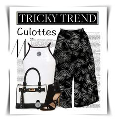 """Tricky Trend - Chic Culottes"" by elena-indolfi ❤ liked on Polyvore featuring Miss Selfridge and IMoshion"