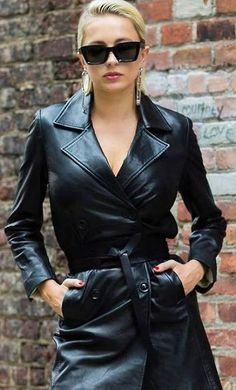 08095B7E-CE8E-44F4-903C-E7EF2BD0013C | Grey Fox | Flickr Long Leather Coat, Leather Jacket, Leather Trench Coat Woman, Trent Coat, Leder Outfits, Leather Dresses, Leather Skirts, Rain Wear, Wearing Black