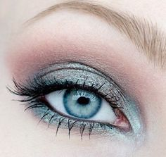 Makeup Tutorials for Blue Eyes -Icy Blue Eyes and Blue Lips Makeup Tutorial -Easy Step By Step Beginners Guide for Natural Simple Looks, Looks With Blonde Hair Colour and Fair Skin, Smokey Looks and Looks for Prom https://www.thegoddess.com/makeup-tutorials-blue-eyes