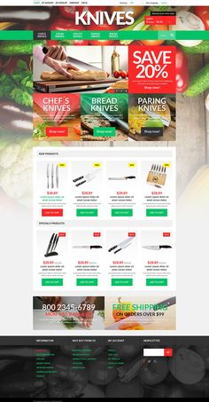 Knives Online Store #Magento Theme #51921 via @medosadvert