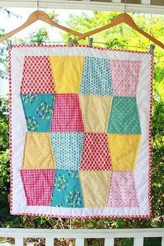 An easy baby quilt pattern for snuggling or decorating