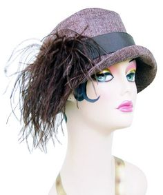 Samantha Hat Style – Origin in Java Upholstery #millinery #hat #hats #passion4hats #pandemonium #pandemoniumhats, #pandemoniummillinery #Seattle #WA #handmade #madeinUSA #upholstery #embroidery #crueltyfree #vintage #classic #cancer #chemotherapy #alopecia #hairloss #feathers