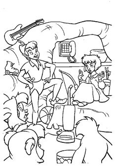 Peter Pan Coloring Pages Free Printables Animal costumes Free
