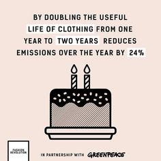 Next time you're thinking of purchasing a clothing item consider if it's a item that will last and if you'll be able to get many uses out of it. Small changes in how we buy and use clothing can have a big impact! Fast Fashion, Fashion Mode, Slow Fashion, Ethical Fashion, Hijab Fashion, Fashion Brands, Fashion Outfits, Fashion Tips, Sustainable Clothing
