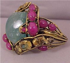 Massive Iradj Moini Emerald Ruby Citrine Ring | eBay